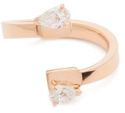 Repossi Serti Carres Alternes Diamond 18kt Rose-gold Ring - Rose Gold