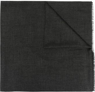 Agnona Grey Woven Cashmere Scarf