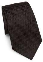 Armani Collezioni Silk Chevron Pattern Tie