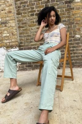 BDG Lulu Puddle Trousers - Mint XS at Urban Outfitters