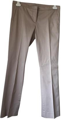 Fabiana Filippi Beige Cotton Trousers for Women