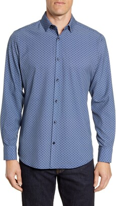 Mizzen+Main Spade Trim Fit Button-Up Performance Sport Shirt