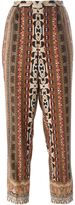 Etro paisley print cropped trousers