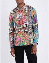 Paul Smith Mens Graphic Iconic Graphic-Pattern Tailored-Fit Cotton Shirt