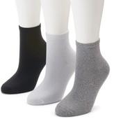 Women's SONOMA Goods for Life 3-pk. Soft & Comfortable Ankle Socks