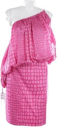 Moschino Cheap & Chic Moschino Cheap And Chic Red Silk Dress for Women