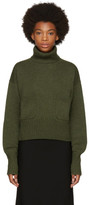 Chloé Green Cashmere Pocket Turtleneck
