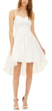 B. Darlin Juniors' Taffeta Ladder-Back Dress, Created for Macy's