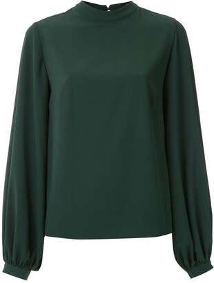 Olympiah Mock Neck Blouse