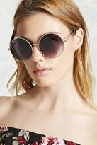 Forever 21 FOREVER 21+ Round Ombre Sunglasses
