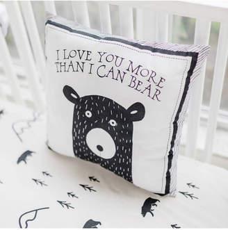 My Baby Sam Little Black Bear Throw Pillow 14x14 Bedding