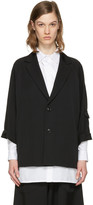Y's Black Raglan Sleeve Blazer