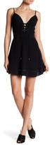 Lovers + Friends Sadie Front Lace-Up Mini Dress