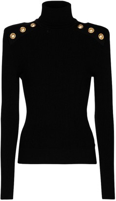 Balmain Ribbed-knit turtleneck sweater
