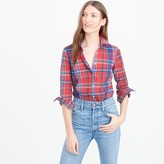 J.Crew Petite perfect shirt in colorful plaid