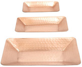 Neuw Dimpled Copper Tray - Set of 3