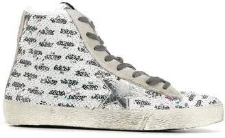 Golden Goose Sequin Hi-Top Sneakers