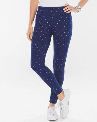 Chico's Chicos Foiled Dot Ponte Leggings
