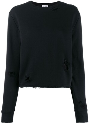 Saint Laurent Distressed Details Knitted Jumper
