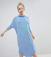 Monki Stripe Oversized Jersey Dress