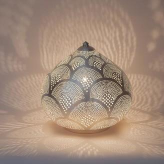 Zenza - Small Silver Princess Fan Table Lamp