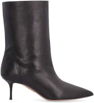 Aquazzura Very Boogie Leather Pointy-toe Ankle-boots