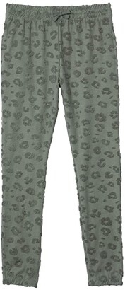 Cotton On Keira Trackpants (Toddler/Little Kids/Big Kids) (Swag Green/Textured Animal) Girl's Casual Pants