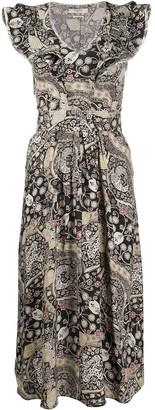 Etoile Isabel Marant abstract-print ruffled-neck dress