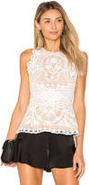 Aijek Padua Peplum Tank in White. - size 1/S (also in 2/M,3/L)