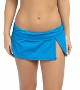LaBlanca La Blanca Island Goddess Shirred Band Slit Swim Skirted Hipster Bikini Bottom 8112590