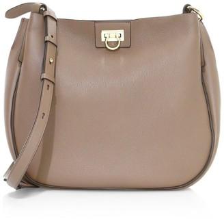 Salvatore Ferragamo Medium Reverse Leather Hobo Bag