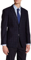 Tommy Hilfiger Ethan Navy Plaid Two Button Notch Lapel Suit Separates Jacket