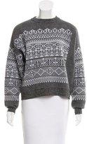 Alexander Wang Fair Isle Crew Neck Sweater