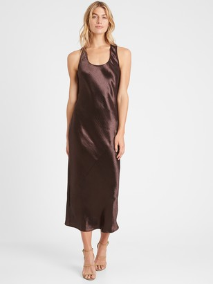 Banana Republic Petite Bias-Cut Satin Slip Dress