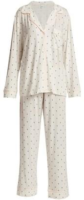 Eberjey Felix 2-Piece Printed Long Pajama Set