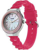 Honora Mother-of-Pearl Silicone Strap StainlessSteel Watch