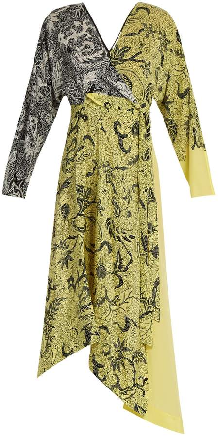 Diane von Furstenberg Bi-colour silk crepe de Chine dress