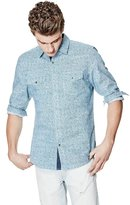 GUESS Brody Long-Sleeve Slim-Fit Shirt