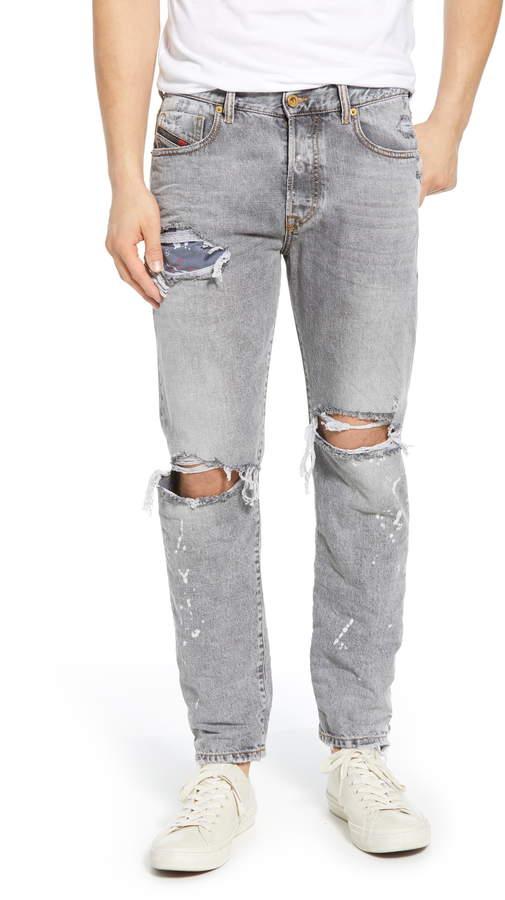 2037d5a896a Ripped Diesel Jeans Men - ShopStyle