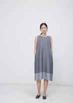 Issey Miyake gray cosmic ripple dress