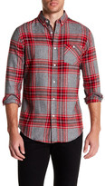 Sovereign Code Hayes Plaid Long Sleeve Regular Fit Shirt