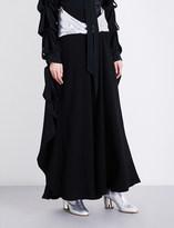 J.W.Anderson Metallic sash high-rise crepe skirt