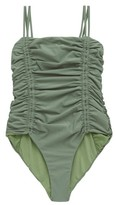 Isa Boulder - Chandler Tie-straps Ruched Swimsuit - Womens - Green