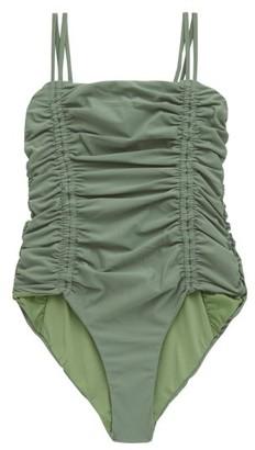 Isa Boulder Chandler Tie-straps Ruched Swimsuit - Green