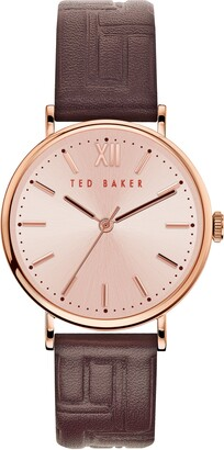 Ted Baker Women's Phylipa Leather Strap Watch, 37mm