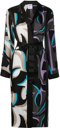 Emilio Pucci Abstract-Print Tie-Waist Dress