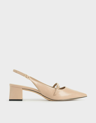 Charles & Keith Patent Mary Jane Slingback Pumps