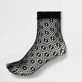 River Island Womens Black lattice fishnet ankle socks