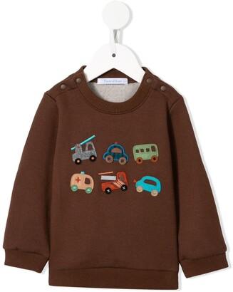 Familiar Car Appliques Sweatshirt