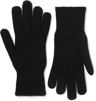 Moncler Logo-Appliqued Virgin Wool Gloves